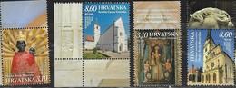CROATIA, 2019, MNH, SHRINES, CHURCHES, SHRINES IN HONOUR OF VIRGIN MARY IN CROATIA, 4v - Churches & Cathedrals