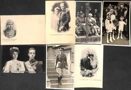 Famille Royale - Lot 7 Cartes (Photo Rensing, Inter Press Albert 1er Baudouin Reine Wilhelmine Rey Alfonso... - Familles Royales