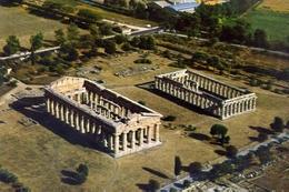 Paestum - Tempio Di Nettuno E Basilica - Formato Grande Viaggiata – E 13 - Salerno