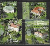 CROATIA, 2019, MNH, CASTLES, CASTLES IN CROATIA, 4v - Castles