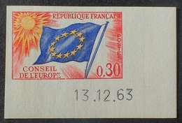 R1591/406 - 1963 - CONSEIL DE L'EUROPE  N°30 NEUF** ND CdF Daté - Cote : 55,00 € - Non Dentellati