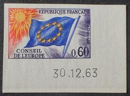 R1591/407 - 1963 - CONSEIL DE L'EUROPE  N°34 NEUF** ND CdF Daté - Cote : 55,00 € - Non Dentellati
