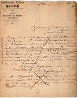 VP15.493 - Lettre Commerciale - Dépôt : Bouteilles De France - Vins Fins & Spiritueux ....GUILLERMAZ Frères à MILANO - Italie