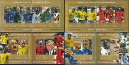 Soccer Football Grenada KB 5144/5 + Bl 692/5  World Cup Japan/Korea 2002 MNH ** - 2002 – South Korea / Japan
