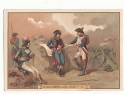 59 NORD IMAGE CHROMO CHICOREE LA MENAGERE DUROYON RAMETTE CAMBRAI N°34 CNE BONAPARTE AU SIEGE DE TOULON  FORMAT 12.2/8.5 - Oude Documenten