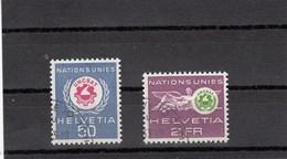 Suisse - 1963 - Oblit - N° YT 434/35 - SDN - Conférence Au Bénéfice Des Nations Sous-développé - Service