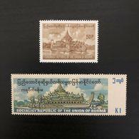 Burma/Myanmar (1977) Karaweik Hall/ Royal Barge Commemorative Stamps MNH - Myanmar (Burma 1948-...)