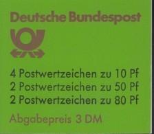 BRD  MARKENHEFTCHEN  MH 24 F OZ, Postfrisch, Burgen Und Schlösser 1984 - Markenheftchen