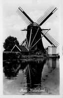 Windmolen Molen Windmill Moulin à Vent  Tussen Baambrugge En Abcoude Hoog En Groenlandspolder  Echte Fotokaart     L 639 - Windmolens