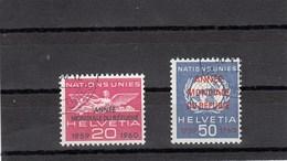 Suisse - 1963 - Oblit - N° YT 408/09 - Nations Unies - Année Mondiale Des Réfugiés - Service