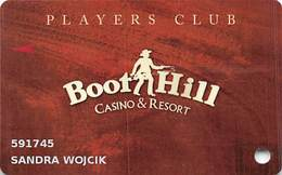 Boot Hill Casino - Dodge City, KS USA - Slot Card With Box Around Get Help Text On Back - Casino Cards