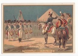 59 NORD IMAGE CHROMO CHICOREE LA MENAGERE DUROYON RAMETTE CAMBRAI N°57 BATAILLE DES PYRAMIDES FORMAT 12.2/8.5 - Oude Documenten