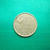 10 Francs Münze Aus Frankreich Von 1951 (sehr Schön) - K. 10 Francs