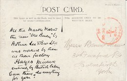 1906? Post Paid Card Advertising Arthur Lee Hayes Middx Marble At New Old Bailey - Advertising