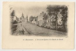 9  -Bonsecours - L' Ancienne Eglise Et La Route De Condé - Péruwelz