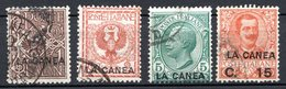 Ile De CRETE - (Bureau Italien De La CANEE) - 1906 - N° 3 à 7 - (Lot De 4 Valeurs Différentes) - Kreta