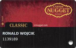 Carson Nugget Casino - Carson City, NV - Slot Card - No Extension With Phone# - Casino Cards