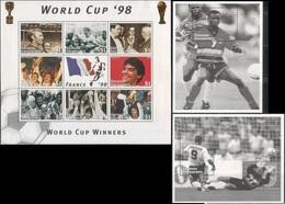 Soccer Football Grenada Grenadines KB 2527/34 + Bl 393/4 1998 World Cup In France MNH ** - 1998 – France