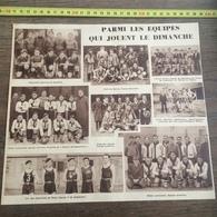 1935 M EQUIPE DE FOOTBALL GUEMENE LANNION PLOERMEL SAINT NAZAIRE LORIENT BASKET BALL CHEMINOTS DU LE MANS - Vieux Papiers