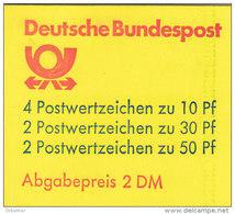BRD MH 22 I Y K1 OZ, Postfrisch **, Burgen Und Schlösser 1980 - [7] République Fédérale