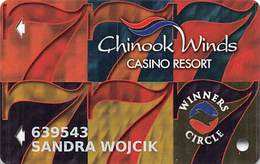 Chinook Winds Casino Lincoln City, OR - Slot Card - Reverse Logo Centered - ACC Over Mag - Casino Cards