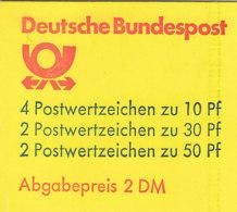 BRD MH 22 I Z OZ, Postfrisch **, Burgen Und Schlösser 1982 - Markenheftchen