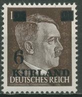 Kurland 1945 Hitler Mit Aufdruck 2 W Z Postfrisch - Occupazione 1938 – 45