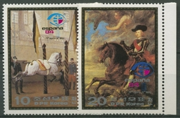 Korea (Nord) 1984 ESPANA '84: Spanische Hofreitschule In Wien 2448/49 Postfrisch - Korea (Nord-)