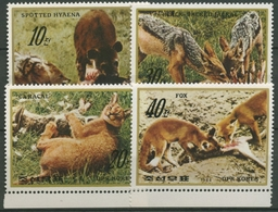 Korea (Nord) 1984 Tiere: Hyäne, Fuchs, Wüstenluchs 2510/13 Postfrisch - Korea (Nord-)