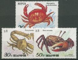 Korea (Nord) 1990 Krabben 3093/95 Postfrisch - Korea (Nord-)