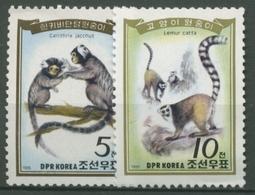 Korea (Nord) 1985 Affen: Weißbüscheläffchen 2657/58 Postfrisch - Korea (Nord-)