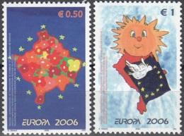 Kosova 2006 Yvert 43 - 44 Neuf ** Cote (2015) 5.30 Euro Europa CEPT L'intégration - Neufs