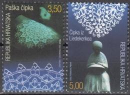 Hrvatska 2002 Michel 619 - 620 Neuf ** Cote (2006) 2.40 Euro La Dentelle Emission Avec La Belgique - Croatie