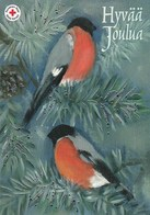 Postal Stationery - Birds - Bullfinches In Winter Landscape - Red Cross 2014 - Suomi Finland - Postage Paid - Finlande