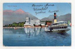 Isola Di Garda (Brescia) - Piroscafo - Viaggiata - (FDC16576) - Steamers