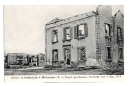 (Guerre De 1914) 161, Haut-Rhin, Modenheim B. Mulhausen, Zwiky 32, Gefecht Am 19 Aug 1914 - Mulhouse