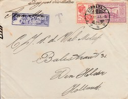 1933 Airmail Netherland Indies Cover To Netherlands 12 1/2 C SG273+ 10c  SG308 Air - Airmail