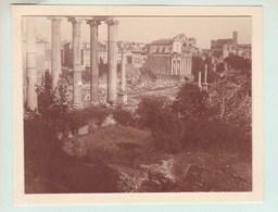 ROME Photo Du Forum Octobre 1920 Photo Amateur Format Environ 7,5 X 5,5 Cm - Luoghi