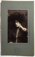 DONNA IN PRIMO PIANO - FOTO STUDIO BERTIERI TORINO ANNO 1905 - Foto