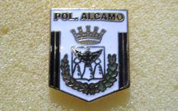 Pol. Alcamo Calcio Pins Soccer Football Italy Distintivi Trapani Sicilia - Calcio
