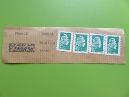 Timbre France YT 1598 AA - Marianne L'engagée - 2018 - 4 Timbres Sur Fragment - 2018-... Marianne L'Engagée