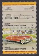 2 TIMBRES NEUFS DE BEQUIA-GRENADINES OF ST-VINCENT - AUTOMOBILE CADILLAC ELDORADO CONVERTIBLE, 1953, U.S.A. - Voitures