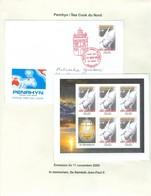 Penrhyn; Pape Jean Paul II. Timbre émis / Stamp Issued On 11 Nov. 2005. Feuillet + Premier Jour . FRAIS De POSTE (6973) - Cook