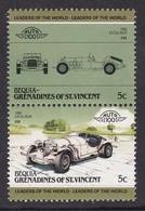 2 TIMBRES NEUFS DE BEQUIA-GRENADINES OF ST-VINCENT - AUTOMOBILE EXCALIBUR, 1968, U.S.A. - Cars