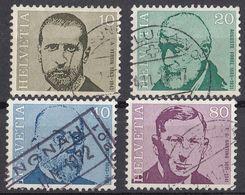HELVETIA - SUISSE - SVIZZERA - 1971 - Lotto Di 4 Valori Usati: Yvert 886/887 E 889/890. - Usati
