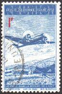 Réunion Obl. N° PA 11 - Avion Survolant Le Pont De L'Est 1f Bleu Et Rouge - Réunion (1852-1975)