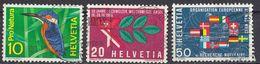 HELVETIA - SUISSE - SVIZZERA - 1966 - Serie Completa Usata Composta Da 3 Valori: Yvert 766/768. - Usati