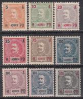 1906  Yvert Nº 99, 100, 101, 102, 104, 105, 106, 107, 108, MNH - Azores