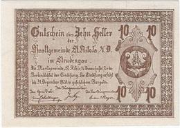 Austria (NOTGELD) 10 Heller Sankt Nikola Donau 31-12-1920 Kon 914 III.a.1  UNC - Oesterreich