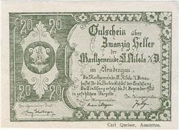Austria (NOTGELD) 20 Heller Sankt Nikola Donau 31-12-1920 Kon 914 III.a.2  UNC - Oesterreich